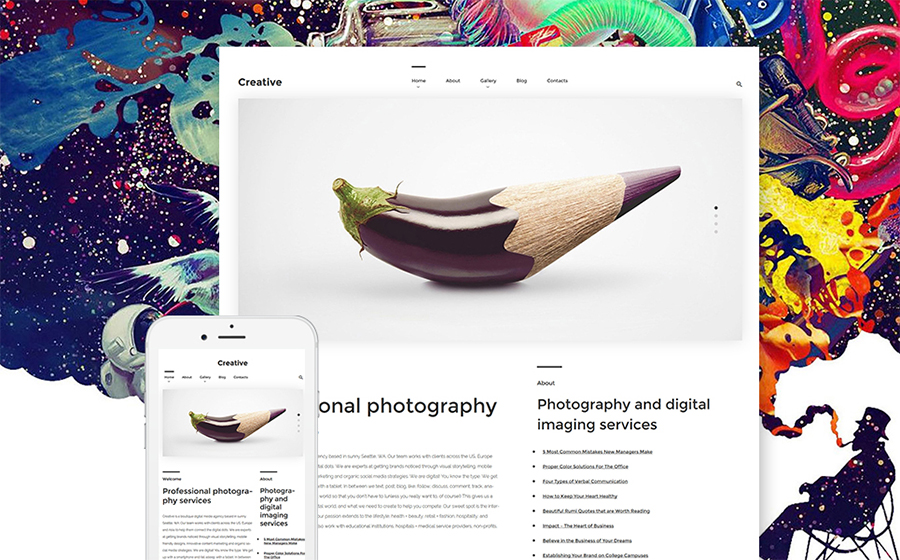 ography WordPress Theme