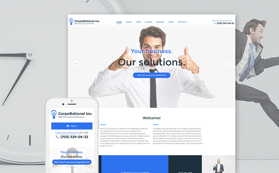 business consultant WP theme