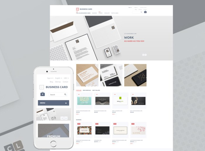Business Card PrestaShop Theme