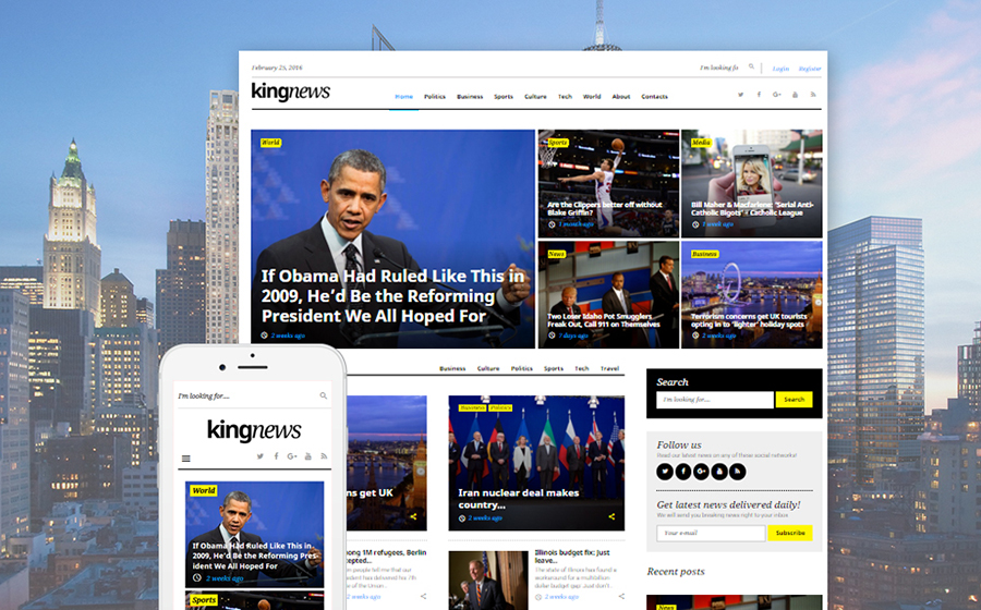KingNews GPL WordPress Template