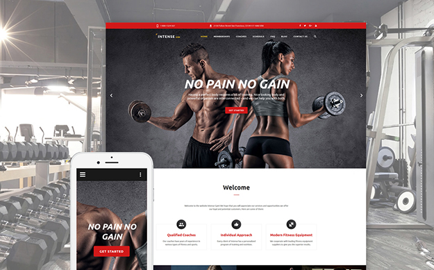 Gym Equipment Website Template