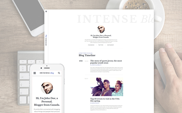 Personal Blog Responsive Website Template