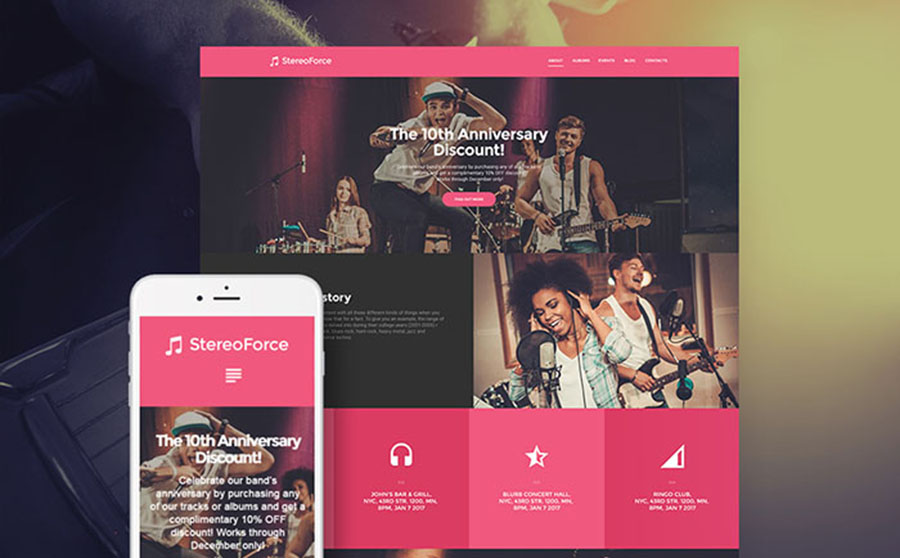 Musicians WordPress Theme