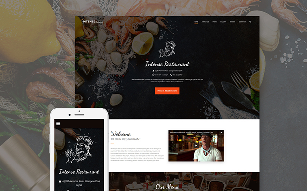 European Restaurant Web Template