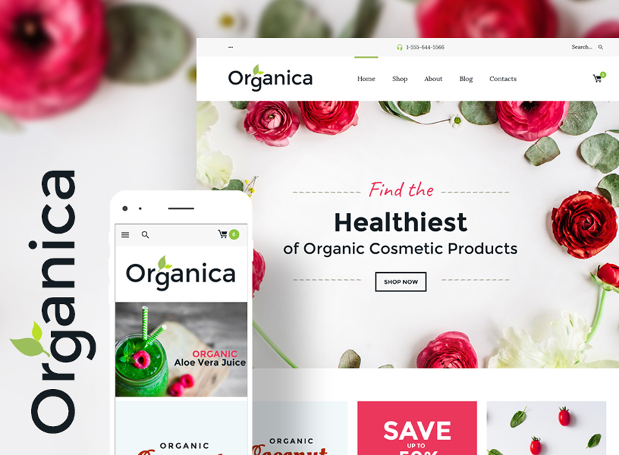food, cosmetics and bio active nutrition Woocommerce theme