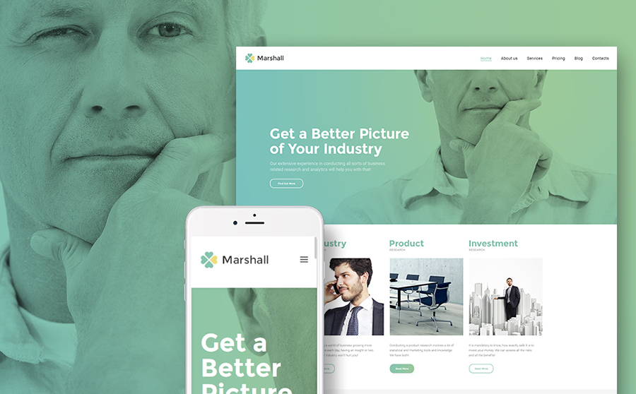 Business Analysis and Market Research Agency WordPress Theme