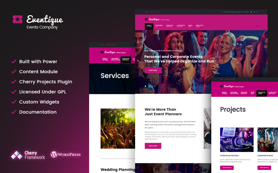 Party Planner WordPress Theme