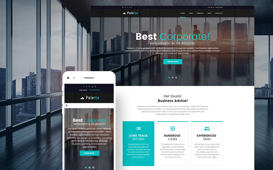 Business Firm WP Theme
