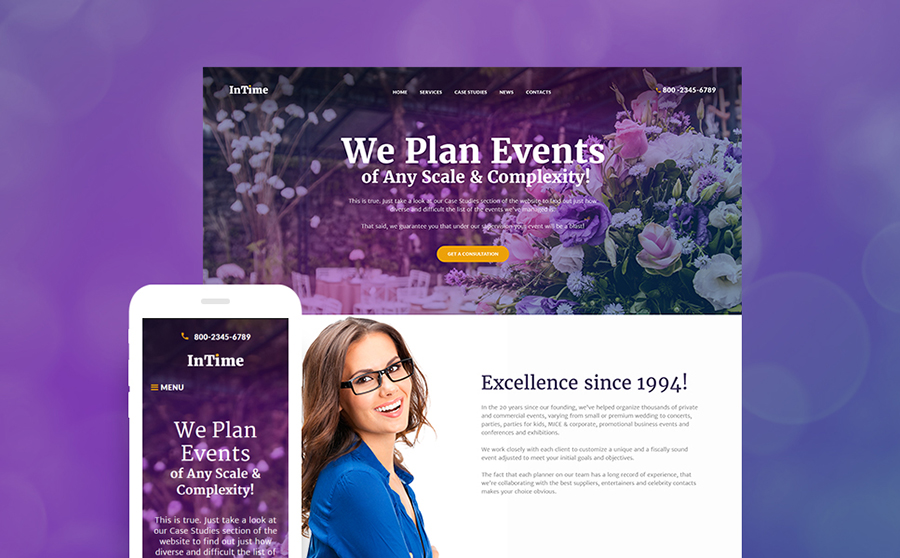 Event Planner WP Theme