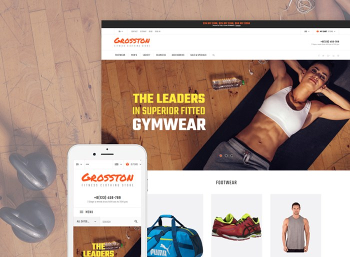 Crosston - Fitness Clothing Store PrestaShop Theme