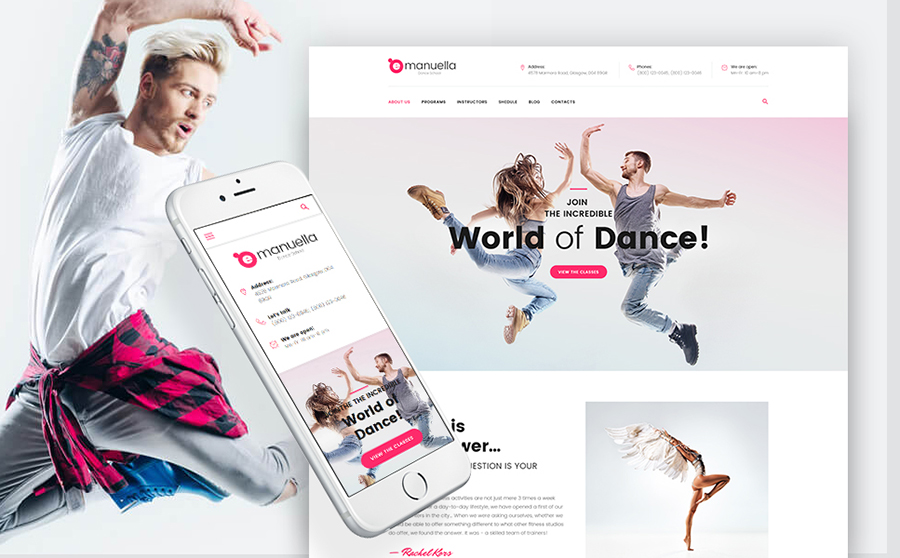 Dance Academy WordPress Theme