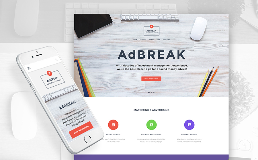 - Advertising Agency WordPress Theme