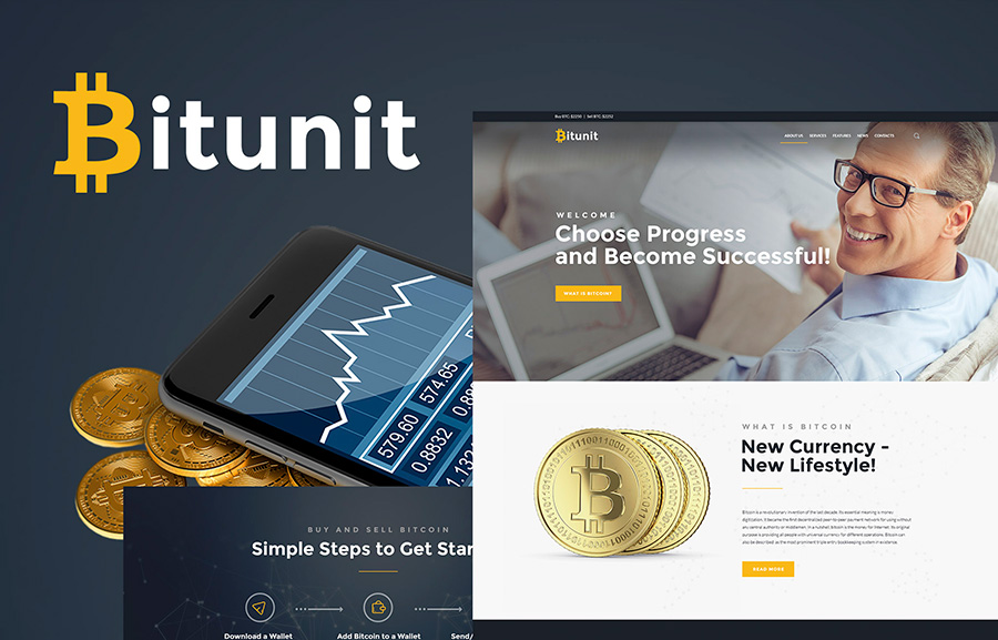 Bitcoin WordPress Template