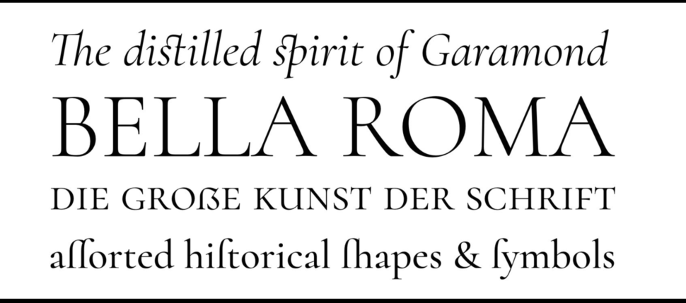 Cormorant minimalist font