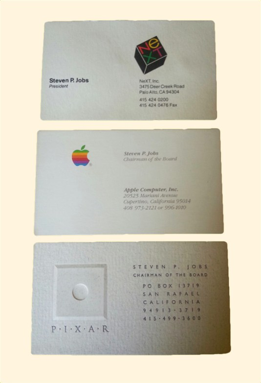 18 famous business cards from the world's most famous people
