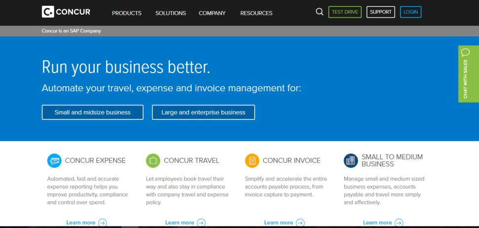 concur website design