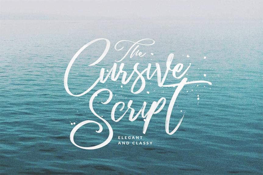 cursive-script
