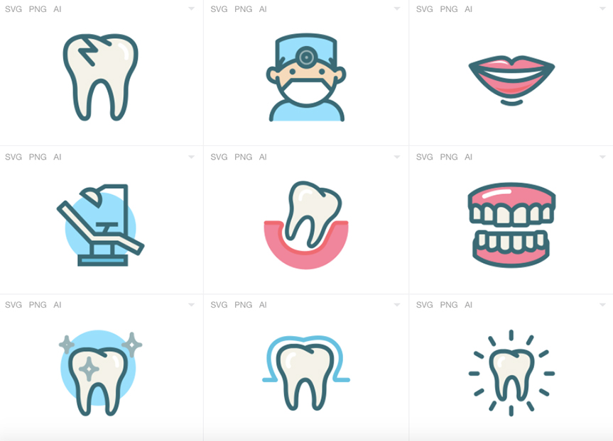 dental-icons-free