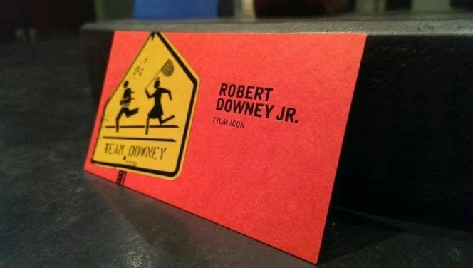 Robert Downey Jr. Business Card