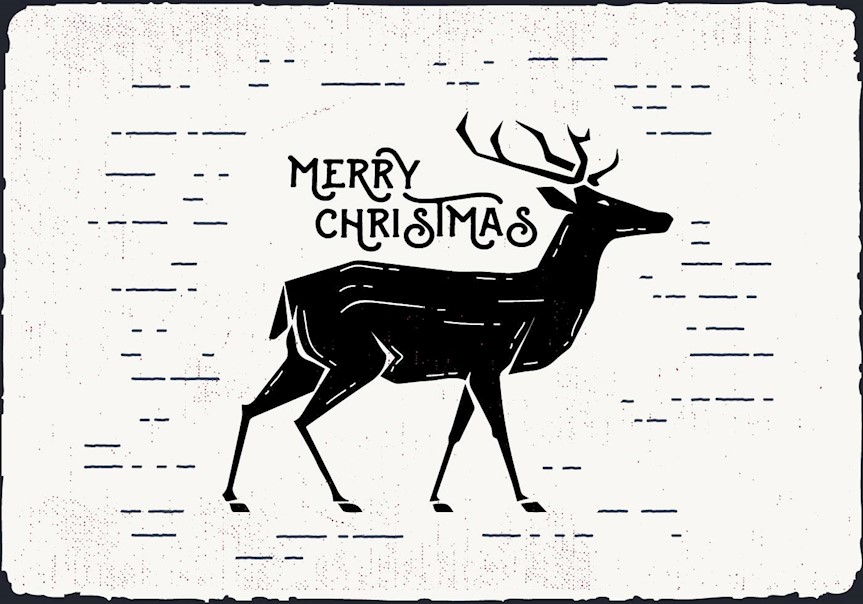 free-christmas-deer-vector