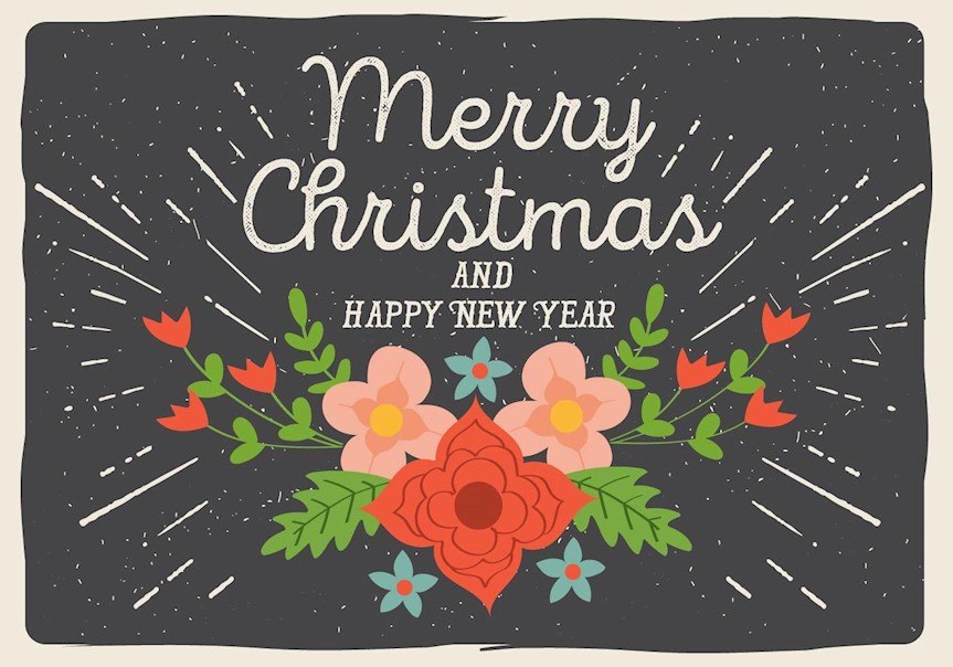 free-vector-christmas-floral-background