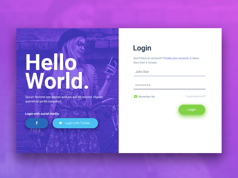 20 Creative Login Form Examples For Your Inspiration
