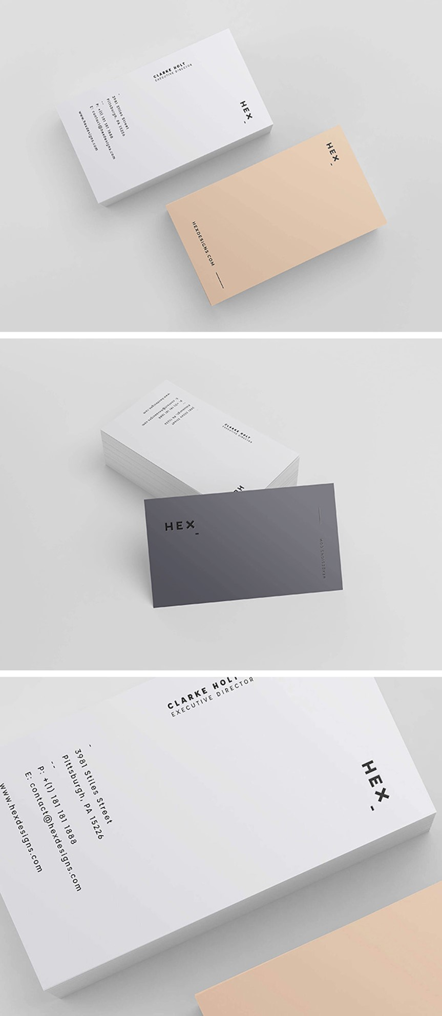hex-business-card-template