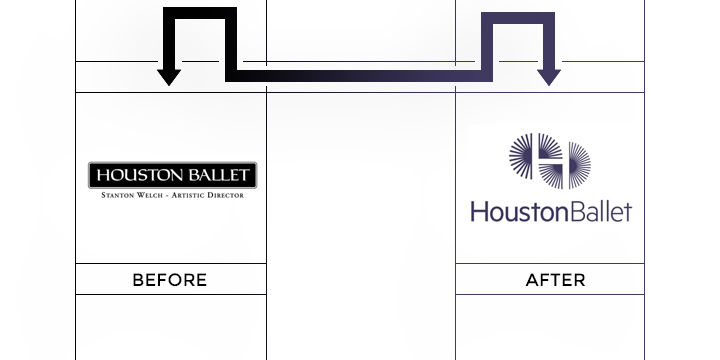 huston ballet logo redesign
