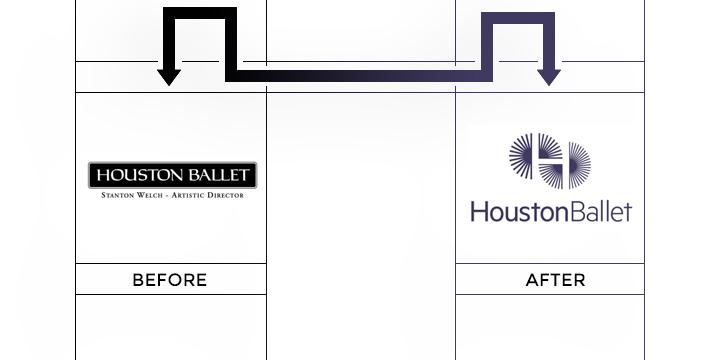 huston ballet logo redesign