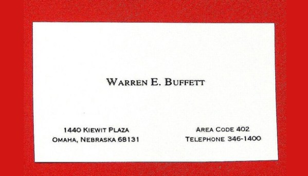 Warren Buffet's Business Card