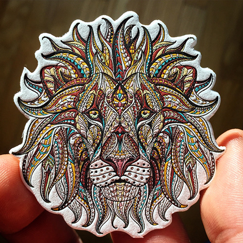 lion-business-card-letterpress