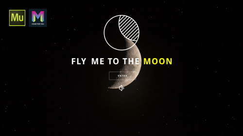 Fly Me to the Moon Landing Page - Adobe Muse CC - Muse For You