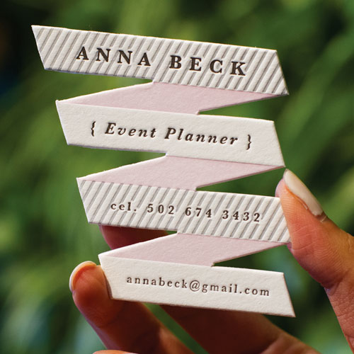 ribbon-shapped-business-cards