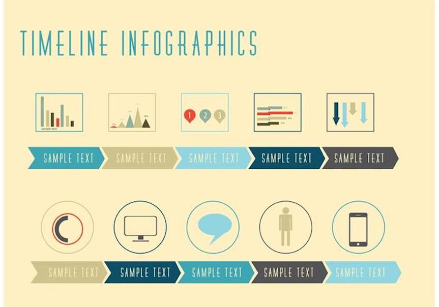 timeline-infographic-vectors
