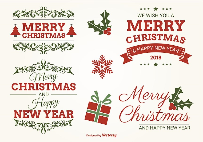 typographic-christmas-label-set