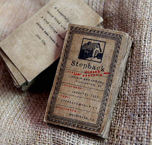 17 great letterpress business cards that define past and present vintage business card reheart Gallery