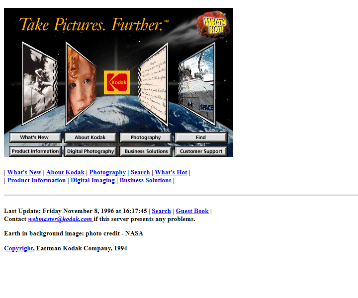 Kodak In 1996 Timeline