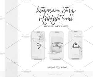 instagram highlight icon sets bloggers brilliant brands icons covers grey