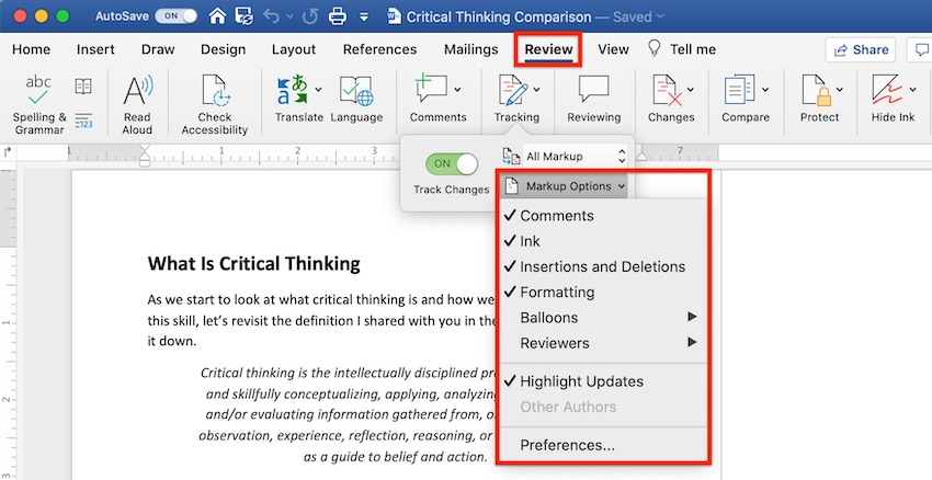 How to Compare and Merge Two Microsoft Word Documents - Web Design Tips