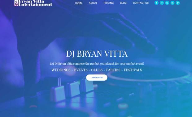 Website destign for DJ Bryan Vitta
