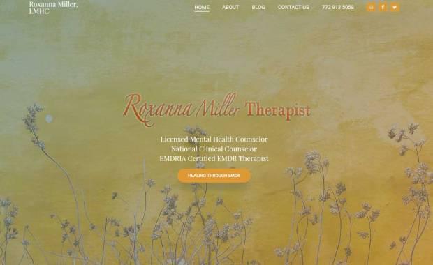 Website Design for Roxanna Miller, LMHC