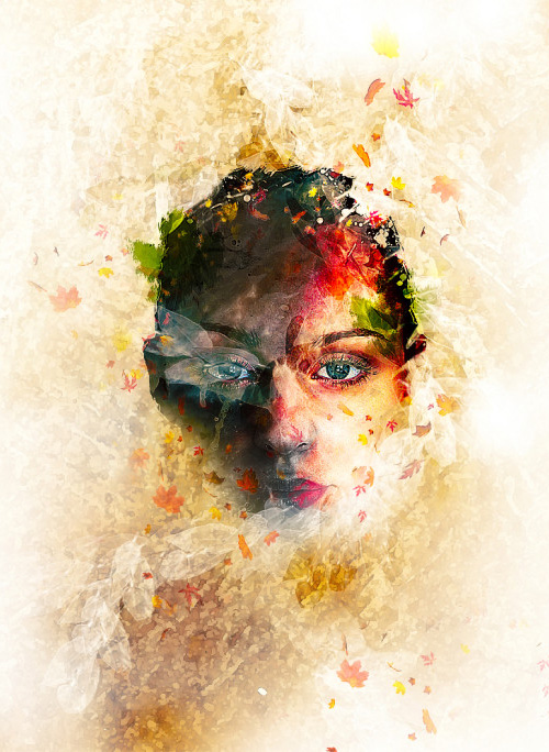 Create Leafy Face Photo Manipulation in Photoshop Tutorial