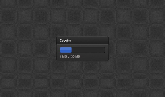 Dark Loading Bar PSD