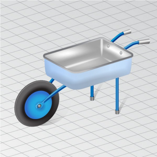 How to Draw a Wheelbarrow in Perspective