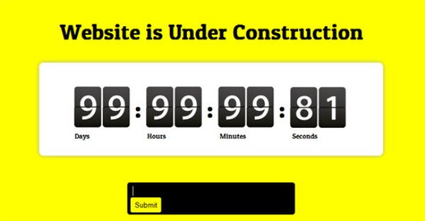 Website Free Under Construction Mobile Template