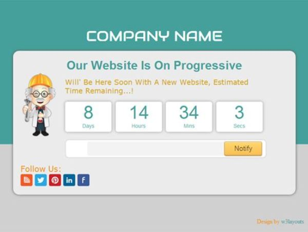 Professory Under Construction Mobile Website Template