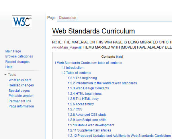 Web Standards Curriculum