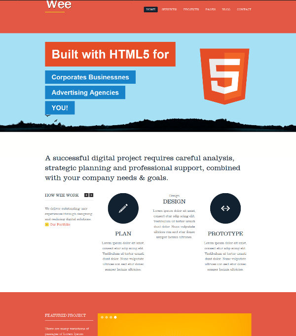 35 best free responsive html5 css3 website templates wee free business portfolio html5 css3 template pronofoot35fo Images