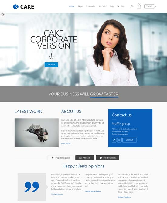 Cake-best-wordpress-theme-february-2014