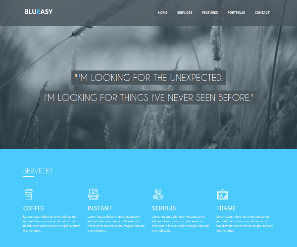 BluEasy – Free Bootstrap Responsive template